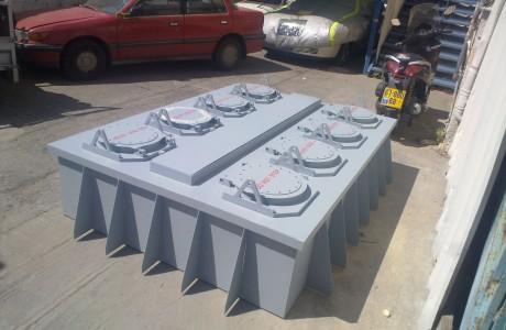 ריתוך אלומיניום - מתקן דמה למשגר טילים עבור ספינות